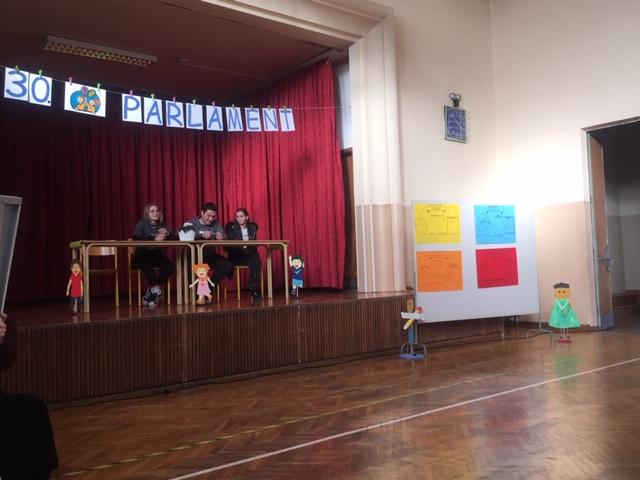 Udeležba na 30. Medobčinskem otroškem parlamentu